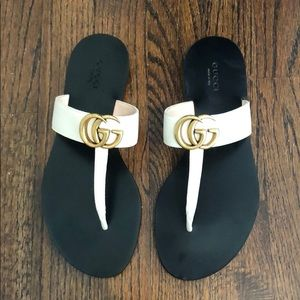 Gucci Marmont GG Thong Sandals